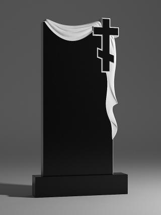 Памятник гранитный с плащаницей и крестом