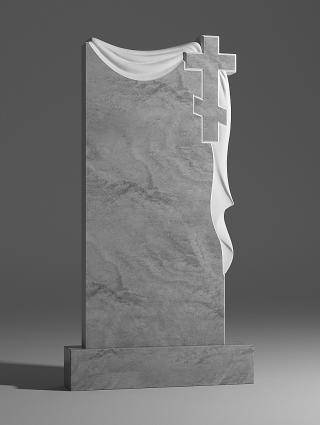 Памятник мраморный с плащаницей и крестом