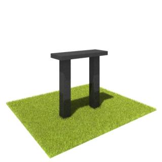 Стол S01 из черного гранита