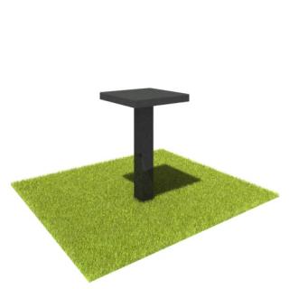 Стол S02 из черного гранита