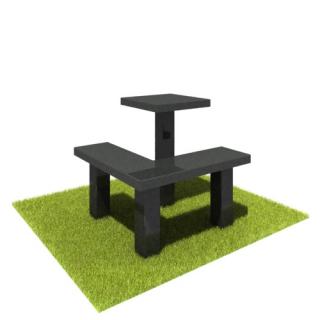 Комплект стол и лавка SL02 из черного гранита