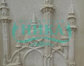 Пример мусульманского памятника с барельефом мечети