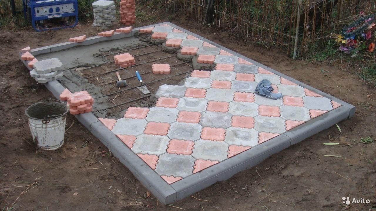 Как уложить плитку на кладбище